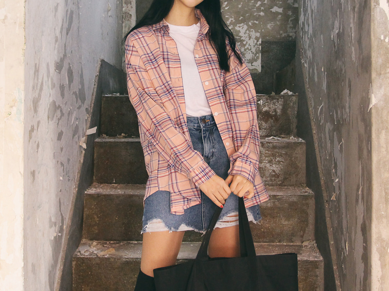 Pastel check cotton shirts