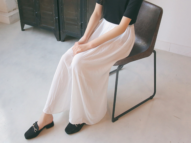 Chiffon long skirt pants