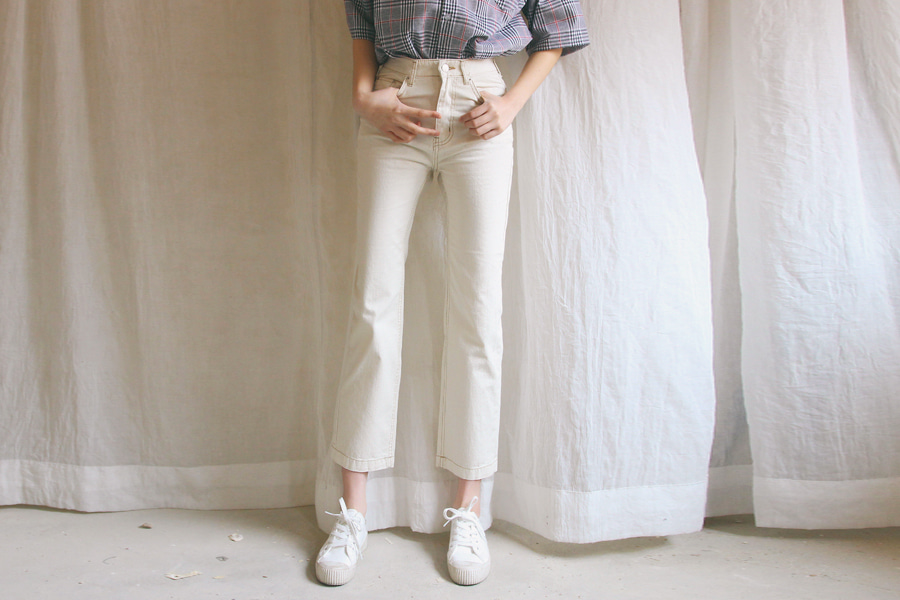 Stitch white pants