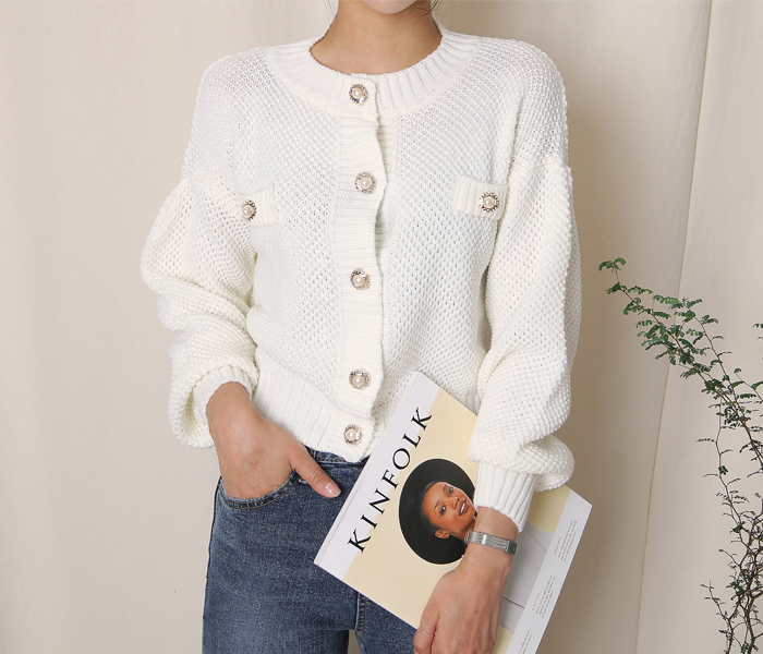 Jewelry knit cardigan
