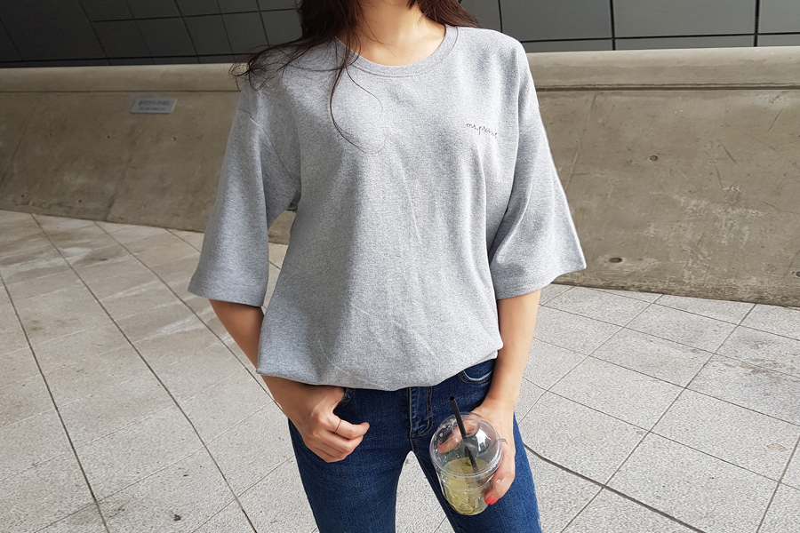 Embroidery warm short sleeve tee