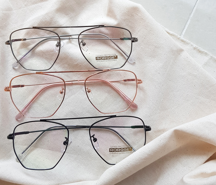 Square edge glasses