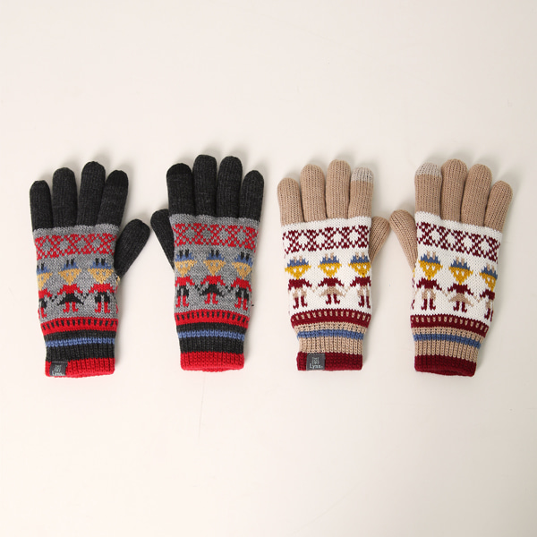 Winter color mix glove