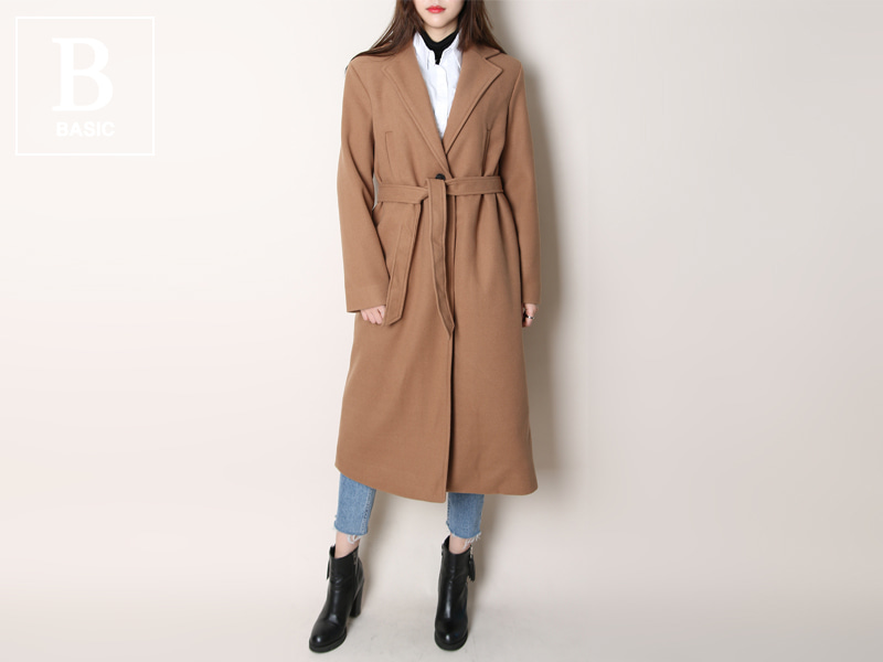 Lady single long coat