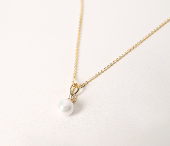 (무료배송) Mini pearl necklace