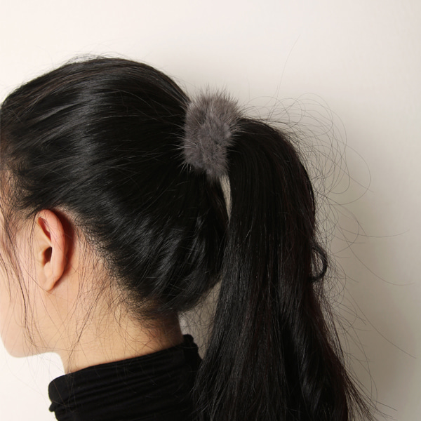 Mink fur hairband